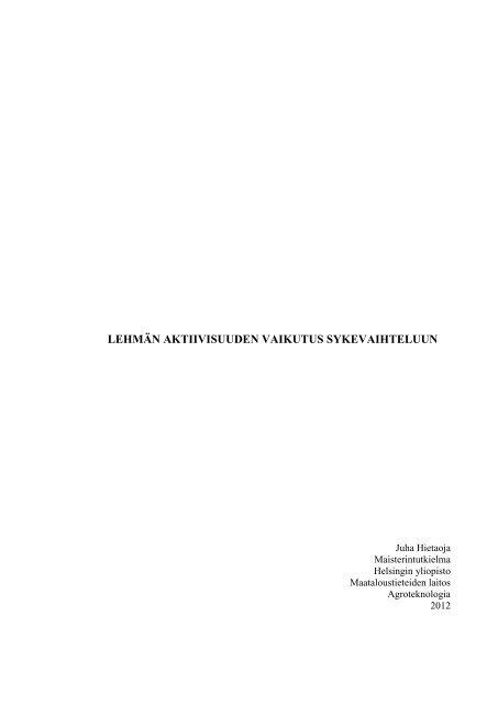 Lehmän aktiivis ... ykevaihteluun_Hietaoja.pdf - Helda