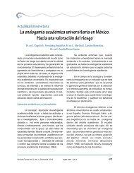La endogamia académica universitaria en México. Hacia una ...