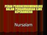 kepentingan psikoneuroimunologi dalam keperawatan - Fakultas ...