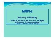 Kő N. Az MMPI teszt felépítése - Semmelweis Egyetem