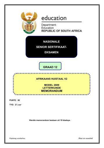 nasionale senior sertifikaat- eksamen graad 12