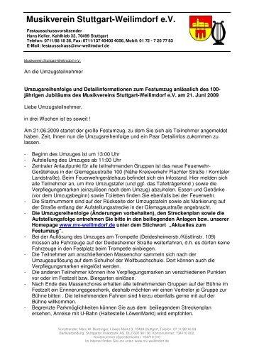 Info-Brief - Musikverein Stuttgart-Weilimdorf eV