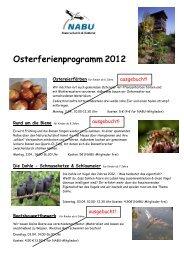 Osterferienprogramm 2012 - NABU Krefeld/Viersen