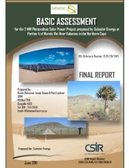 Kakamas 10 MW PV Power project, Northern Cape - CSIR