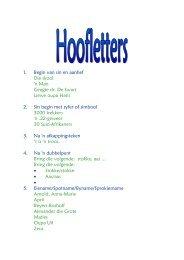 Hoofletters - Kleuters