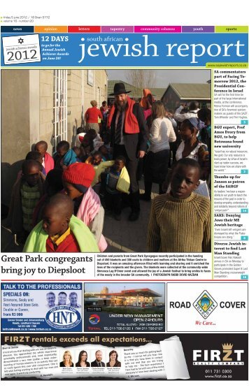 Great Park congregants bring joy to Diepsloot - South African Jewish ...