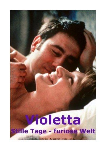Violetta Stille Tage Furiose Welt