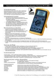 Bedienungsanleitung Digital-Multimeter McVoice MYT-888