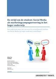 Social Media in het hoger onderwijs