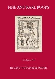 FINE AND RARE BOOKS OKS - Hellmut Schumann Antiquariat