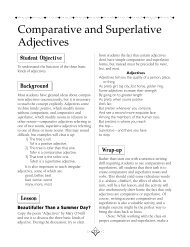 Comparative and Superlative Adjectives - Scholastic