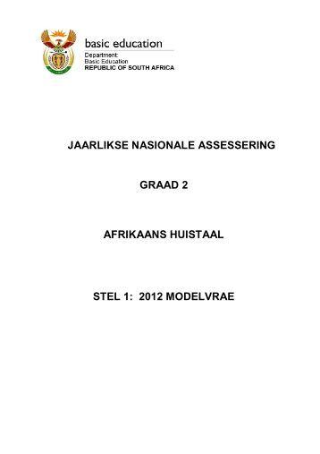 JAARLIKSE NASIONALE ASSESSERING GRAAD 2 AFRIKAANS ...