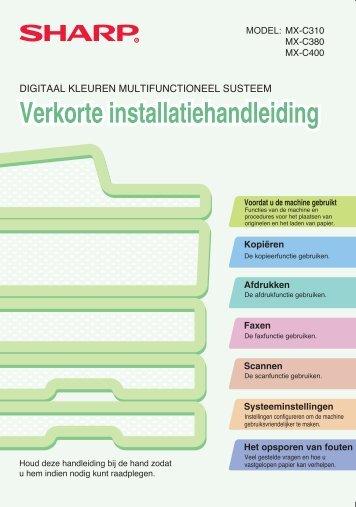 MX-C310/C380/C400 Operation-Manual Quick-Guide NL - Sharp