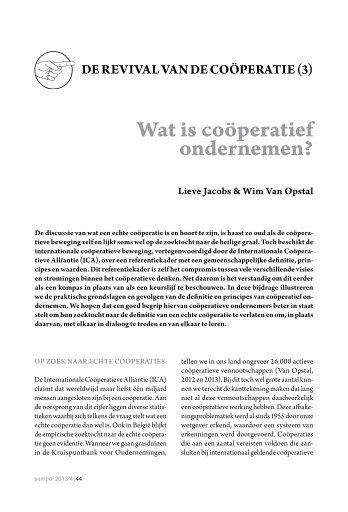 Wat is coöperatief ondernemen?