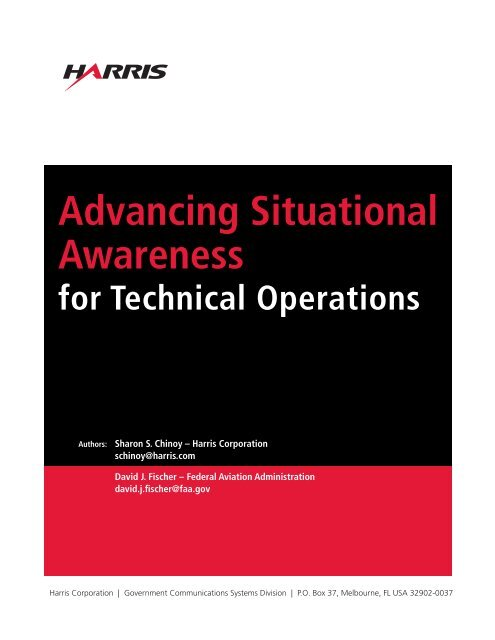 Advancing Situational Awareness for Technical Operations