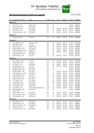 19. Apoldaer Triathlon