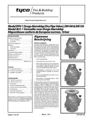 Model DPV-1 Droge Alarmklep - Tyco Fire Products