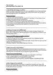Tips and Tricks Samsung Galaxy S Plus (i9001) l NL 1. Gemakkelijk ...