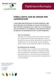 sterilisatie van de vrouw per laparoscoop - Ruwaard van Putten ...