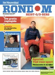 HEISTO/DBERG - Rondom - Het Nieuwsblad