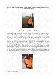Aponis Tagebuchbericht aus Moskau - namu Art for Life Network eV
