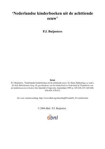 'Nederlandse kinderboeken uit de achttiende eeuw' - digitale ...