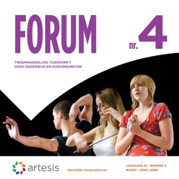 Forum 4, maart - april, jaargang 16 - Artesis Hogeschool Antwerpen