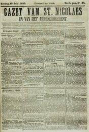 Zondag 15 July 1855. Derde jaer, N' S8.