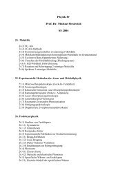 Physik IV Prof. Dr. Michael Oestreich SS 2004