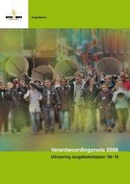 Verantwoordingsnota 2008 - Jeugd Gent - Stad Gent