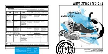 winter catalogus 2012 | 2013 - Schreuders Sport International BV