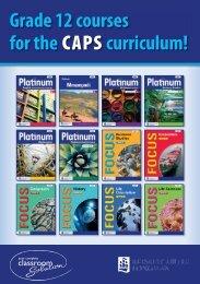 Grade 12 courses for the CAPS curriculum! - Maskew Miller Longman