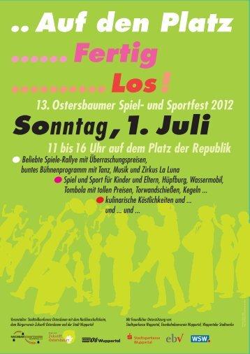 Sonntag, 1. Juli - Nachbarschaftsheim Wuppertal eV