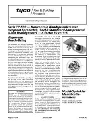 Serie TY-FRB - Tyco Fire Products