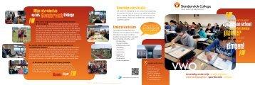 Brochure vwo - Sondervick College