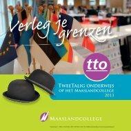 16244 Brochure TTO 2013.indd - Maaslandcollege