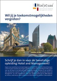 International Hotel and Management - ROC Mondriaan
