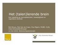 Het (talen)lerende brein - Vrije Universiteit Brussel
