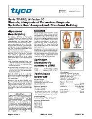 Serie TY-FRB, K-factor 80 Staande, Hangende of Verzonken ...