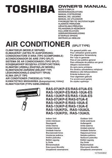 Toshiba Klimaanlage Bedienungsanleitung Rbc Amt32e