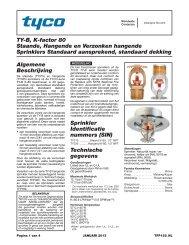 TY-B, K-factor 80 Staande, Hangende en Verzonken hangende ...