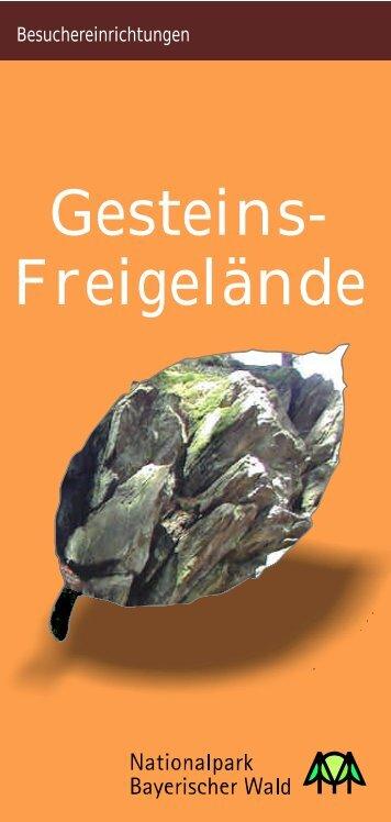 """Faltblatt """"Gesteins-Freigelände"""" - Nationalpark Bayerischer Wald"""