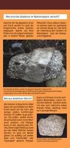 """Faltblatt """"Gesteins-Freigelände"""" - Nationalpark Bayerischer Wald - Seite 4"""