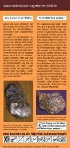 """Faltblatt """"Gesteins-Freigelände"""" - Nationalpark Bayerischer Wald - Seite 5"""