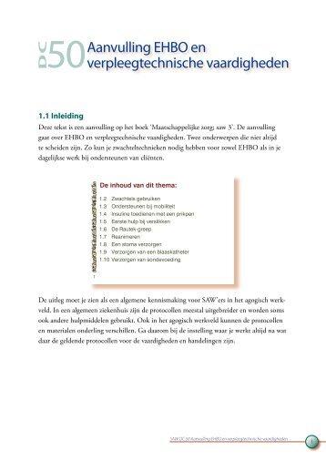 Aanvulling EHBO en verpleegtechnische vaardigheden - Profi-leren