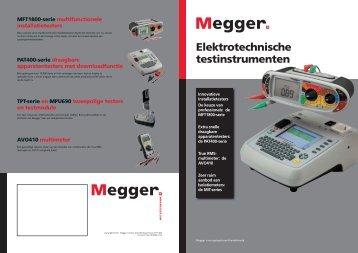 Online catalogus van Megger