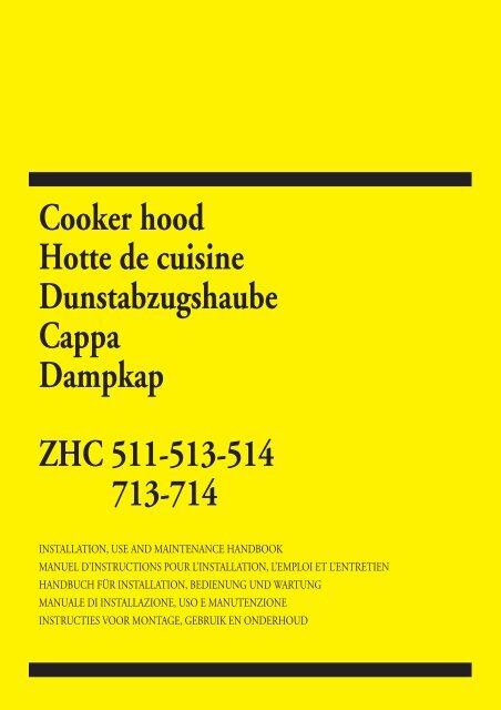 Cooker Hood Hotte De Cuisine Electrolux Uicom