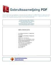 Gebruiksaanwijzing SMEG FR148A7 - GEBRUIKSAANWIJZING PDF