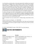 MANUEL D'UTILISATION - Native Instruments - Page 2