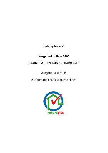 RL0406 Dämmplatten aus Schaumglas - natureplus e.V.